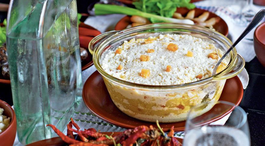 Рецепт Мамалыга со шкварками и брынзой