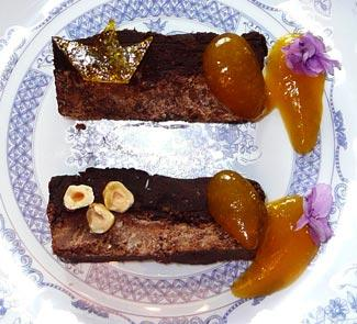 Рецепт Шоколадный альянс в абрикосовом соусе