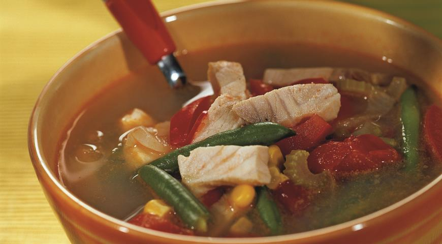 Рецепт Суп из морского окуня