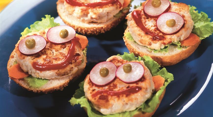 Рецепт Бургеры Счастливая семейка