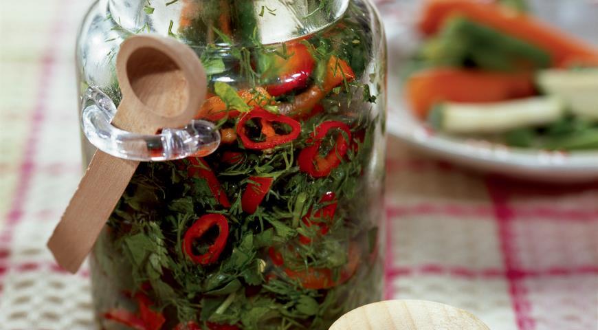 Рецепт Заготовка из огородной зелени
