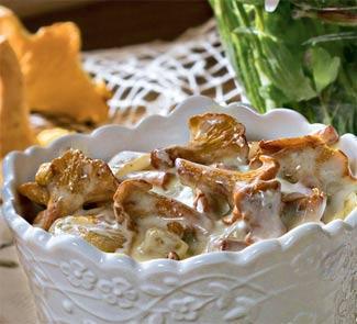 Рецепт Лисички в шафрановом соусе