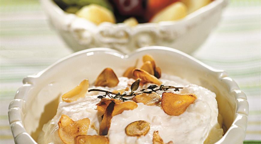 Рецепт Дип из запеченного чеснока с овощами