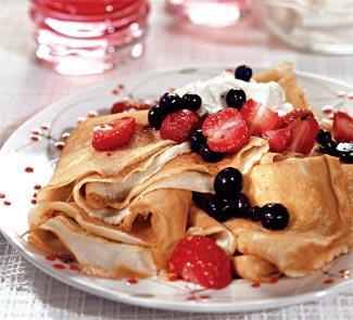 Рецепт Блины с ягодами