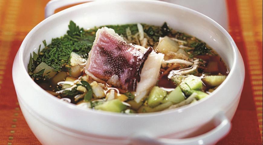 Рецепт Окрошка рыбная