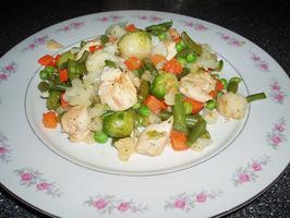 Рецепт Овощной плов с курицей