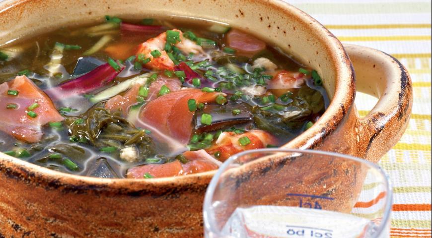 Рецепт Ботвинья полевая, с рыбой и раками