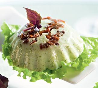 Рецепт Зеленое желе из йогурта с моццареллой