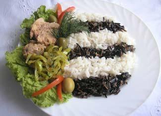Рецепт Ризотто-зебра с тунцом