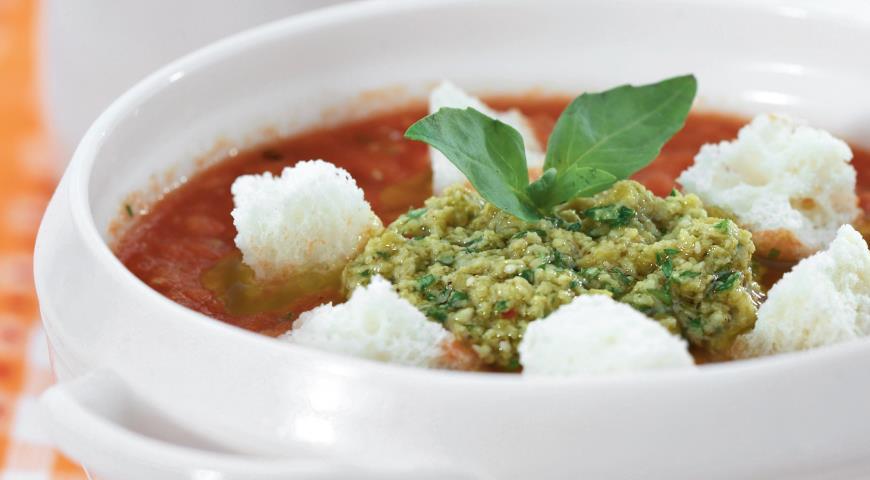 Рецепт Томатный суп с оливадой