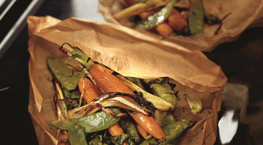 Рецепт Овощи, запеченные в пергаменте