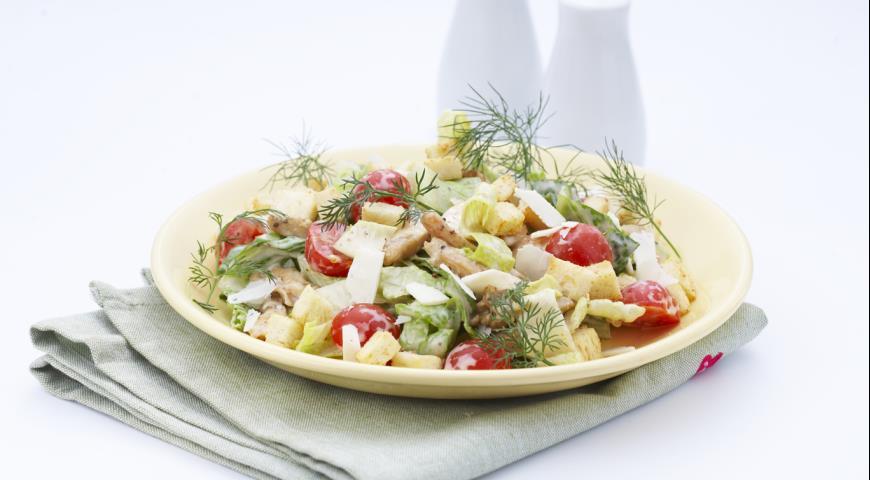 Рецепт Салат Цезарь с курицей