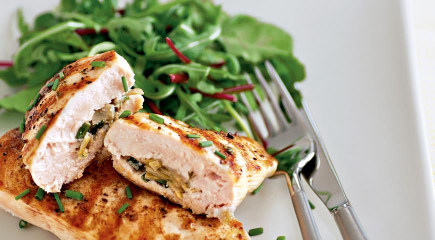 Рецепт Куриные грудки с артишоками
