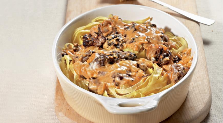 Рецепт Паста, запеченная со сморчками