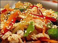 Рецепт Салат с медузой и курицей