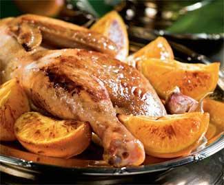 Рецепт Цыплята с мандаринами