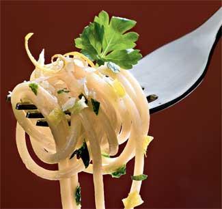 Рецепт Лимонные спагетти