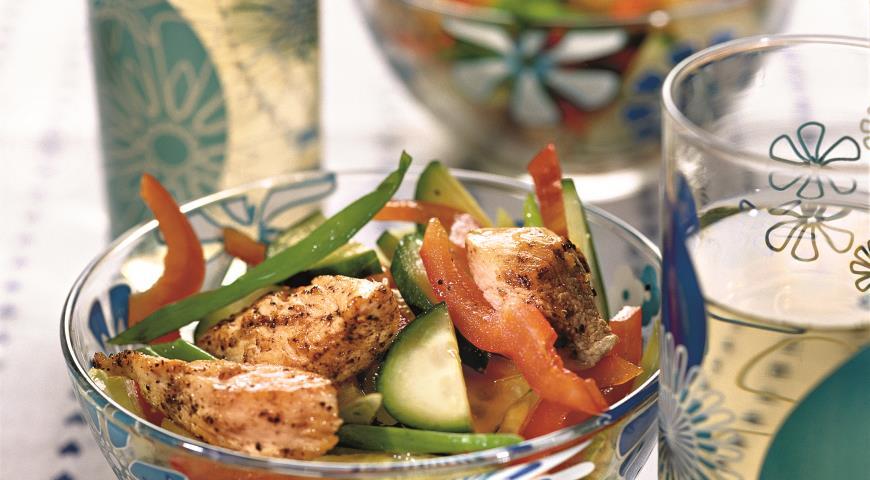Рецепт Салат с молодым картофелем и курицей