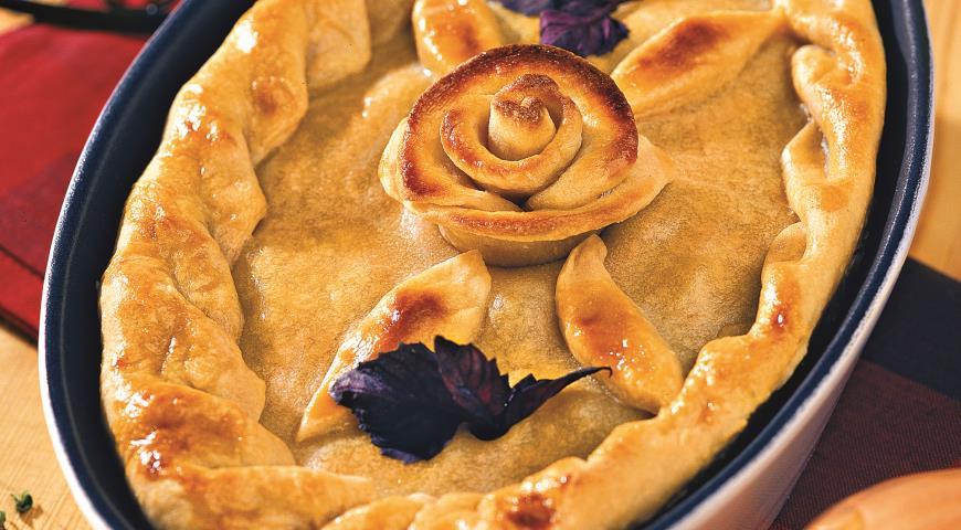 Рецепт Пирог с куриными потрошками