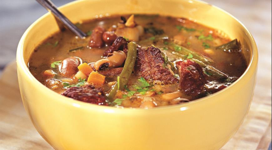 Рецепт Суп с тремя видами фасоли