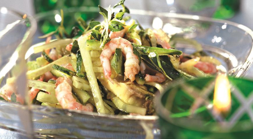 Рецепт Салат из креветок и авокадо