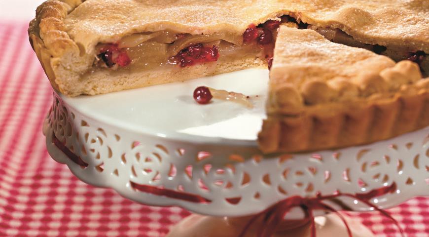 Рецепт Пирог с грушами и клюквой