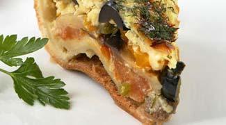 Рецепт Пирог с баклажанами