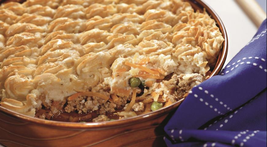 Рецепт Пастуший пирог (shepherds pie), запеканка из картофеля и бараньего фарша