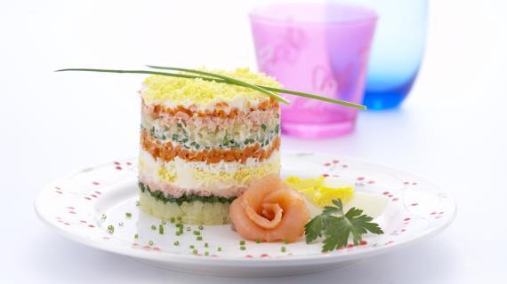 Салат мимоза со сливочным маслом рецепт с фото