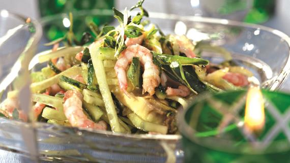 Постные салаты с морепродуктами