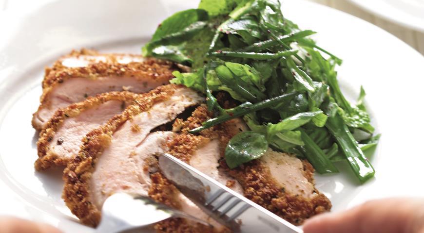 Рецепт Куриные грудки в хлебных крошках