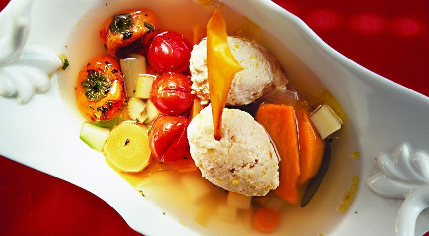 Рецепт Куриный суп с клецками