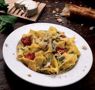 Рецепт Тальятелле с соусом из свежей зелени и печеными томатами