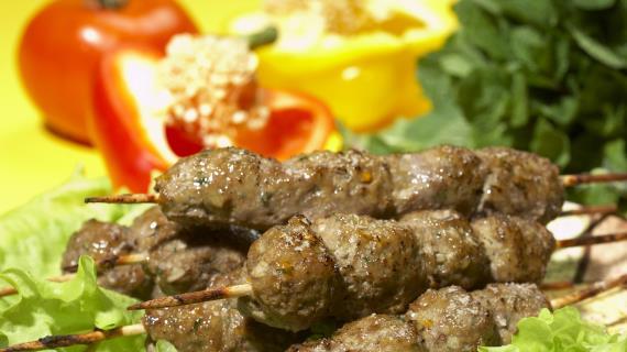 Зимний люля-кебаб из свинины