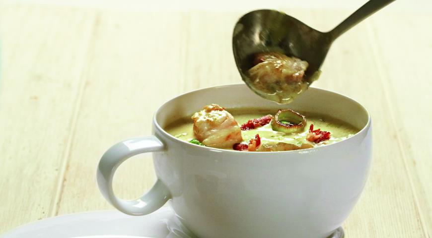 Рецепт Сливочный суп из морского черта