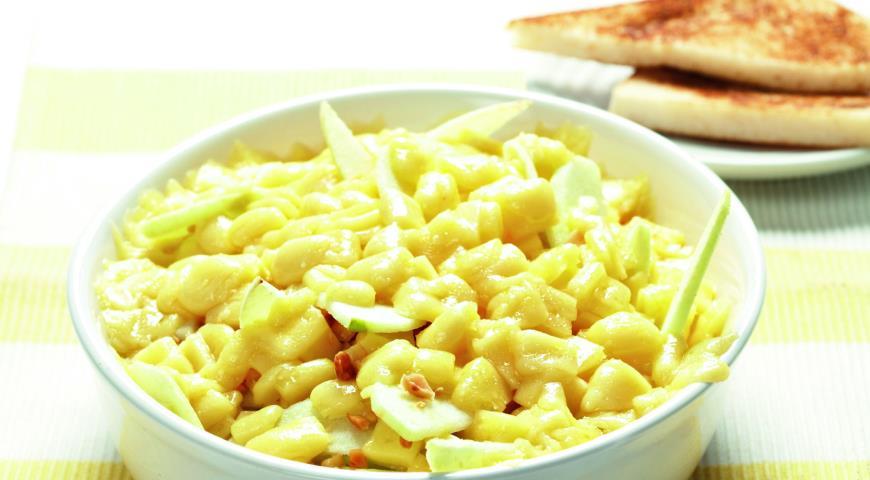 Рецепт Сыр, запеченный с яблоками и миндалем