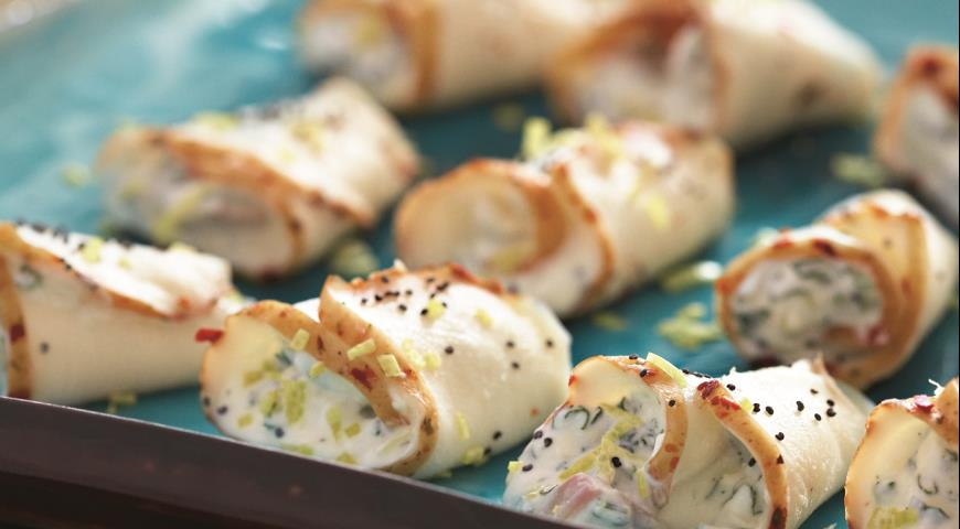 Рецепт Рулетики из масляной рыбы с лимонной рикоттой