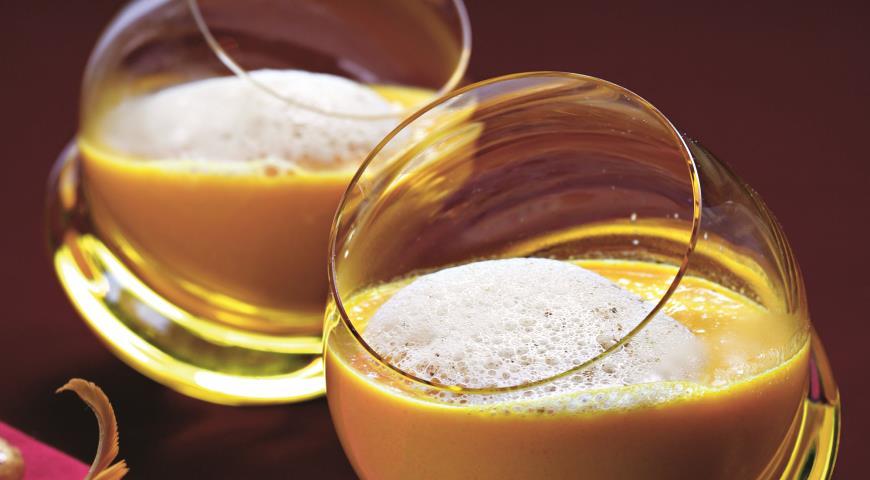 Рецепт Морковный суп с зирой и грибным капучино