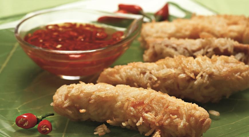 Рецепт Тайская рыба в корочке из риса