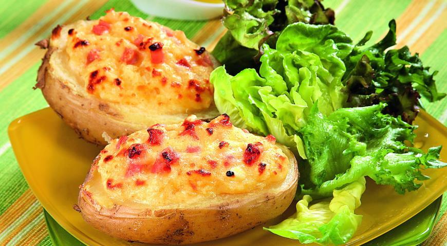 картофель с ветчиной и сыром рецепт
