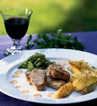 Рецепт Свинина с коньячным соусом