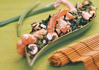 Рецепт Соте из дикого риса с креветками