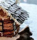 Торт Дом в шоколаде, пошаговый рецепт с фото