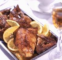 Рецепт Запеченная курица с апельсиновым соком