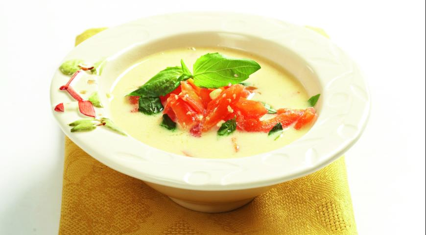 Рецепт Сырный суп с помидорами