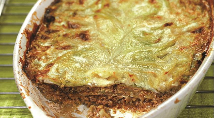 Рецепт Лазанья из молодой капусты с орехами