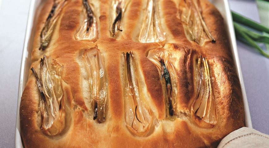 Рецепт Хлеб с молодым зеленым луком
