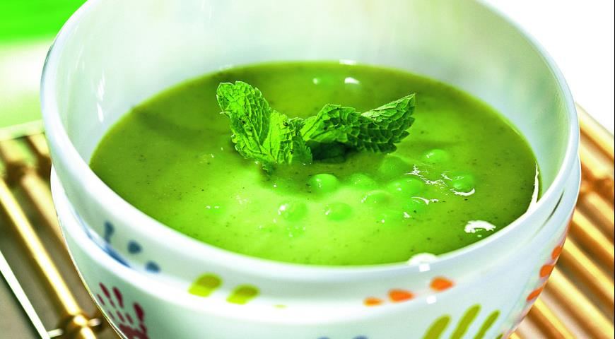 Рецепт Суп из зеленого горошка с мятой