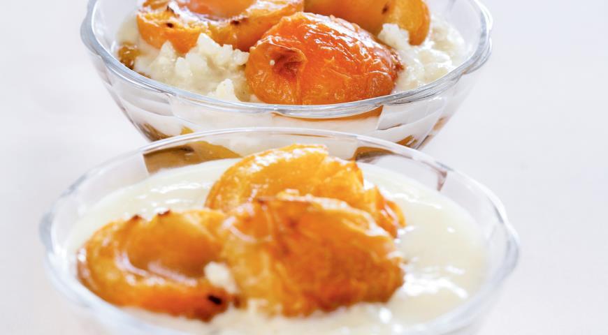 Рецепт Сладкий рис с запеченными абрикосами