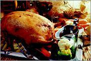 """Рецепт Фаршированная утка под соусом """"Периго"""" с жареными овощами"""